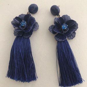 Jewelry - Baublebar Blue Tasseled Fringe Earrings